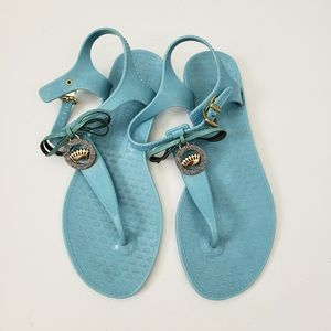 Juicy Couture | Jelly Thong Sandals Blue Size 7